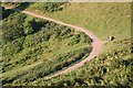 SO7639 : Parabolic Path, Herefordshire Beacon by Bob Embleton