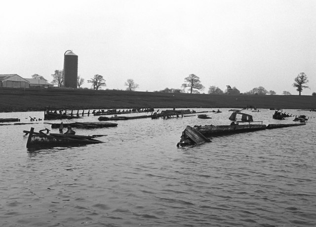 Narrowboat graveyard, Northwich, Cheshire