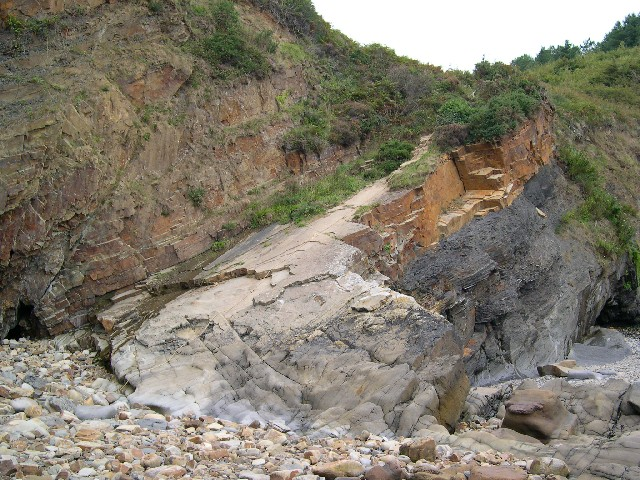 Path leading down to Monkstone Beach