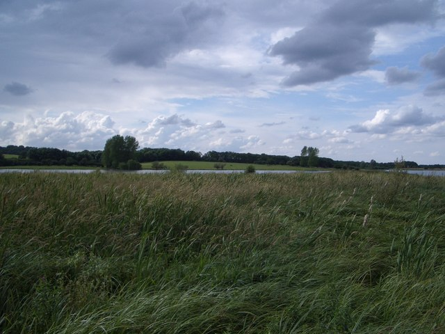 The View NW from the Waderscrape Bird Hide at Rutland Water
