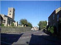SP9153 : The Church Corner & Northampton Road at Lavendon by Nigel Stickells
