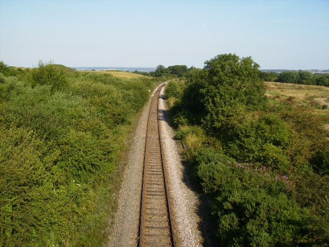 The Scarborough to Filey railway line
