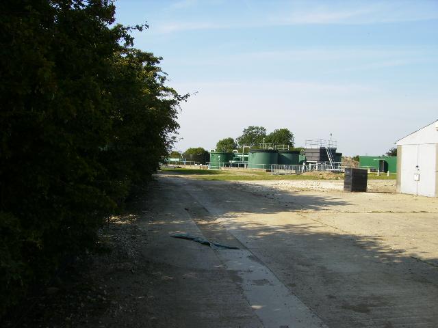 Sewage treatment works near Seamer
