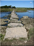 SH4464 : Stepping stones over Afon Braint by Eric Jones