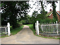 TG3326 : Entrance to Dilham Hall by Evelyn Simak