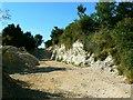 SU0359 : Miniature chalk quarry, Wessex Ridgeway, near Stert by Brian Robert Marshall