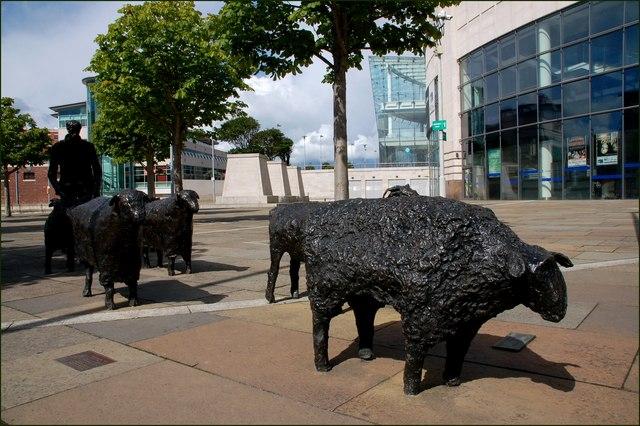 Sculpture, Laganside, Belfast
