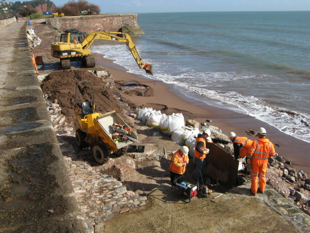 Sea Wall Repairs at Teignmouth