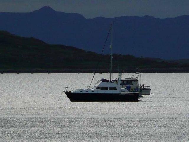 At anchor in Loch nan Ceall