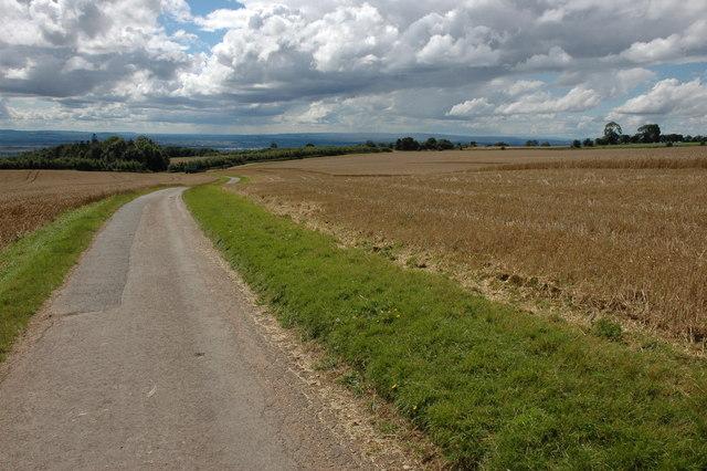 The road to Lalu Farm, Bredon Hill