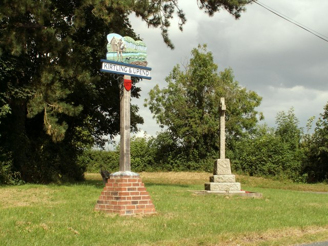 Kirtling & Upend village sign and War Memorial