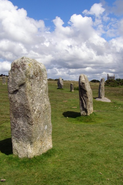 Standing stones in the central Hurlers stone circle
