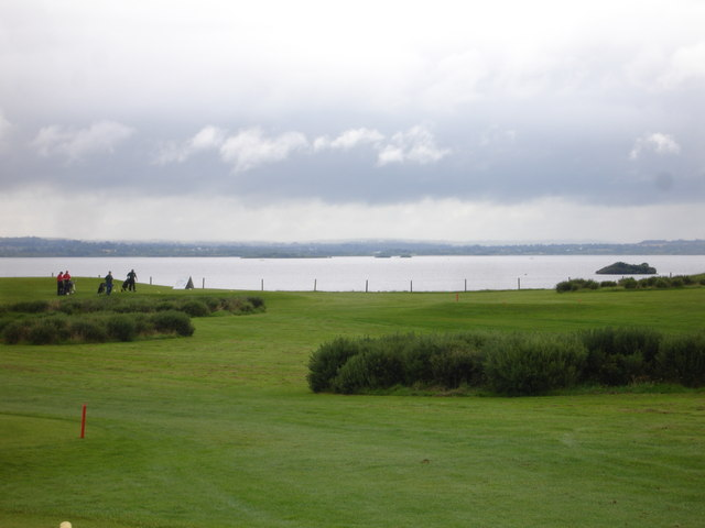 Islands in Lough Ree viewed from the Glasson golf course