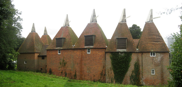 Oast Houses at Finchcocks Farm, Goudhurst, Kent