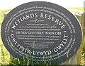 ST3383 : Newport Wetlands Plaque by Robin Drayton