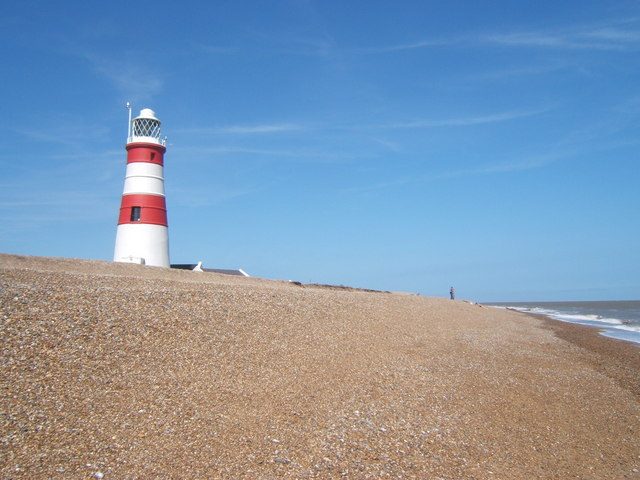 Lighthouse and beach, Orford Ness