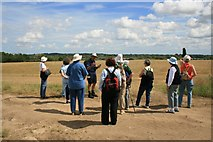TG3204 : Guided walk at Rockland St Mary by Katy Walters