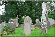 SH2332 : Maen Hir a Mynwent - Standing Stone and Churchyard by Alan Fryer