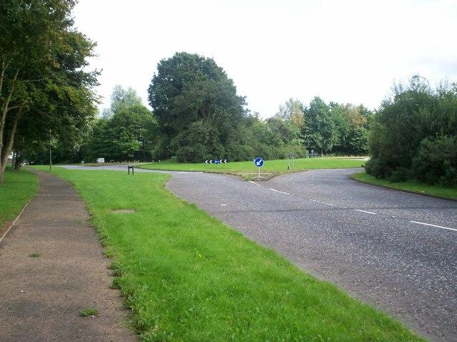 Moyraverty Road Roundabout at Westacres, Craigavon.