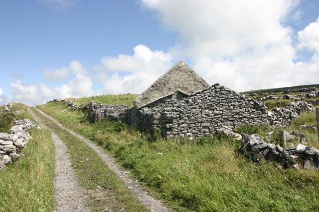 Ruins Beside The Burren Way