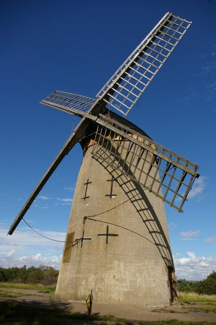 Front view of Bidston Windmill