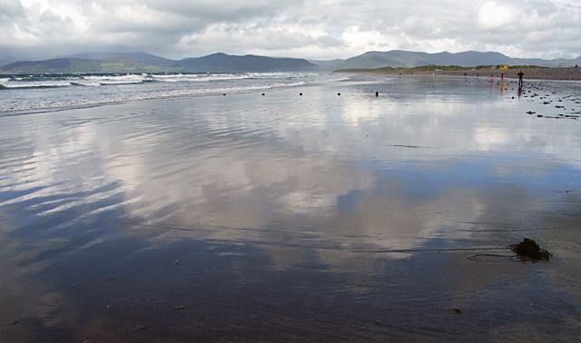 Looking along Rossbeigh Beach
