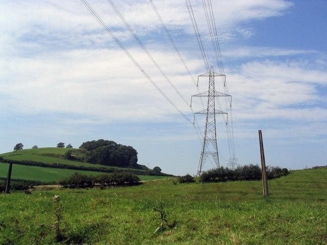 Power pylons near Loders