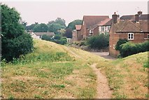 SY9287 : Wareham: the town walls by Chris Downer