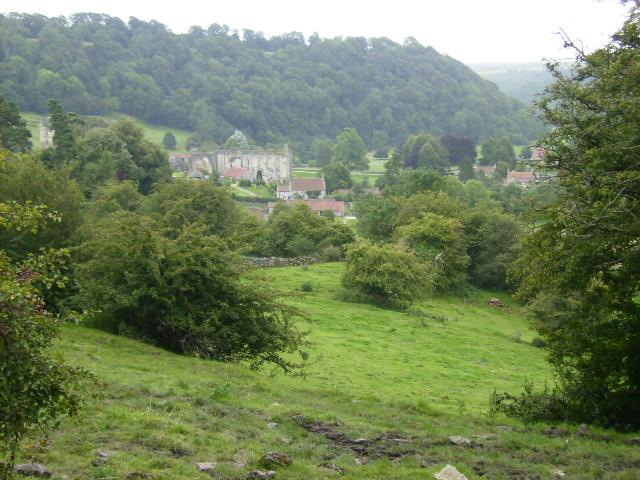 Rievaulx seen from Air Bank Wood