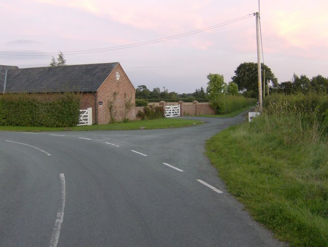 Grove Farm and Entrance to Hitchins Farm at Shocklach