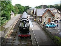 SD8789 : Hawes railway station by DS Pugh
