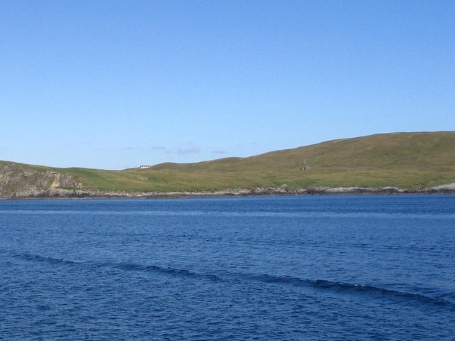 Shore at Morro Ness from Whalsay ferry
