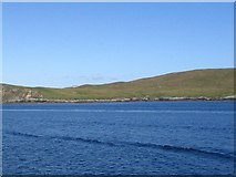 HU4962 : Shore at Morro Ness from Whalsay ferry by Ken Craig
