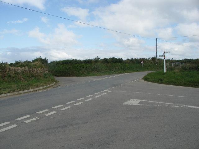 Crossroads near Pelynt.