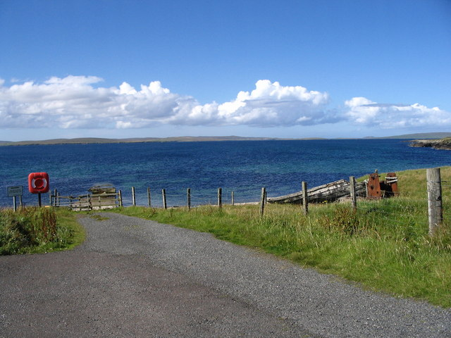 The old pier at Ugasta near Brough Lodge
