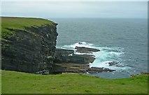 HY2328 : Cliffs on north edge, Brough  of Birsay by C Michael Hogan