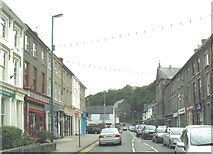 SH5638 : View along Bank Place, Porthmadog, in the direction of the Holy Redeemer Catholic Church by Eric Jones