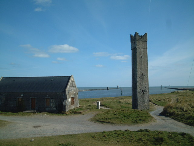 Maiden Tower, Mornington, and Mouth of River Boyne