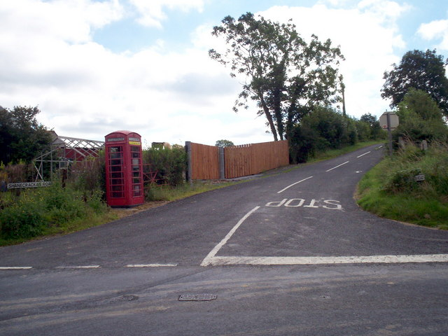 Shanecracken Road at the junction with the Tandragee Road, Markethill.