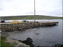 HU4545 : Pier at Gremista road end by Ken Craig