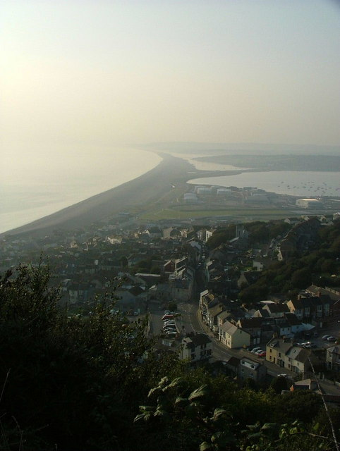 Chesil Beach from the viewpoint above Fortuneswell