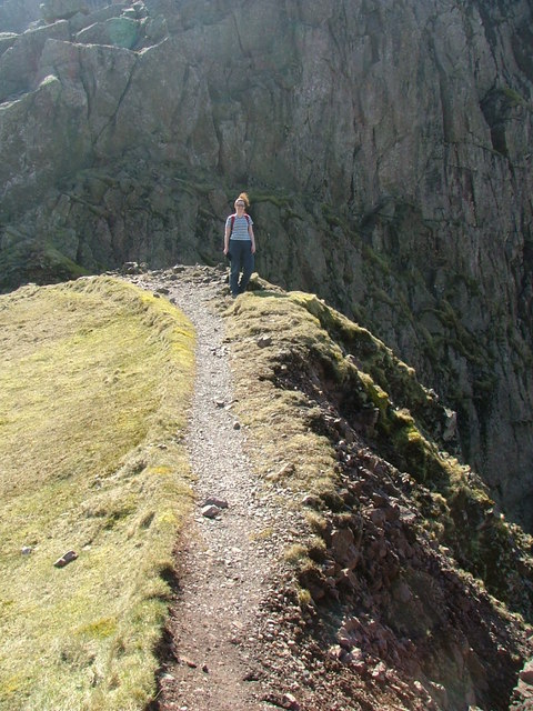 Mickledore leading from Scafell Pike to Broad Stand