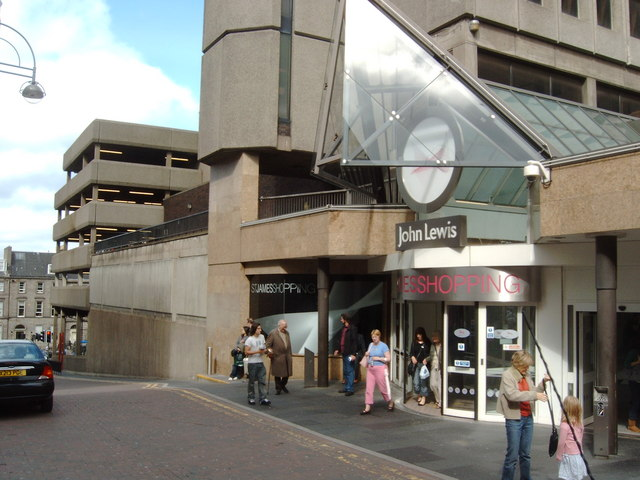 An entrance to the St. James Shopping Centre
