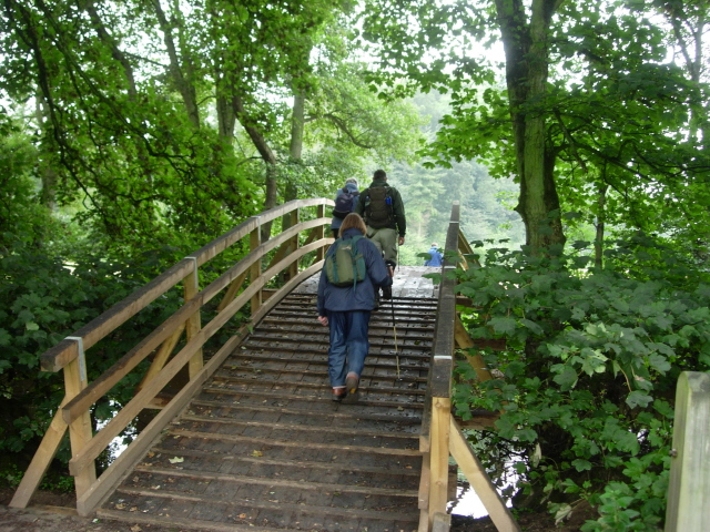 Reconstructed footbridge over the River Seven