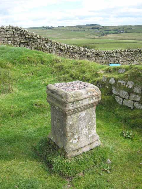 Altar Stone at Aesica Roman Fort