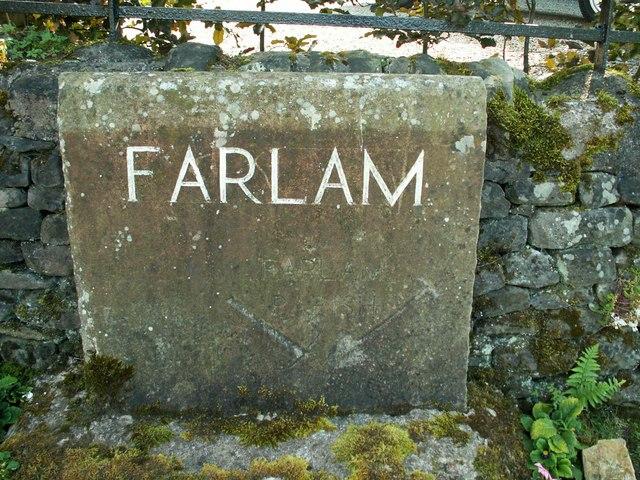 Farlam Parish marker stone