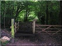 SU1789 : Public footpath/bridleway junction on Kingsdown Lane by Damon Knight