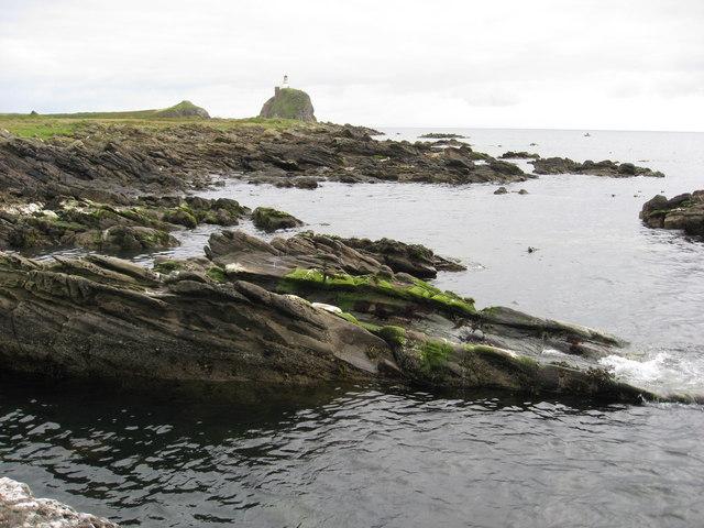 Rocky inlet on south shore of Sanda Island