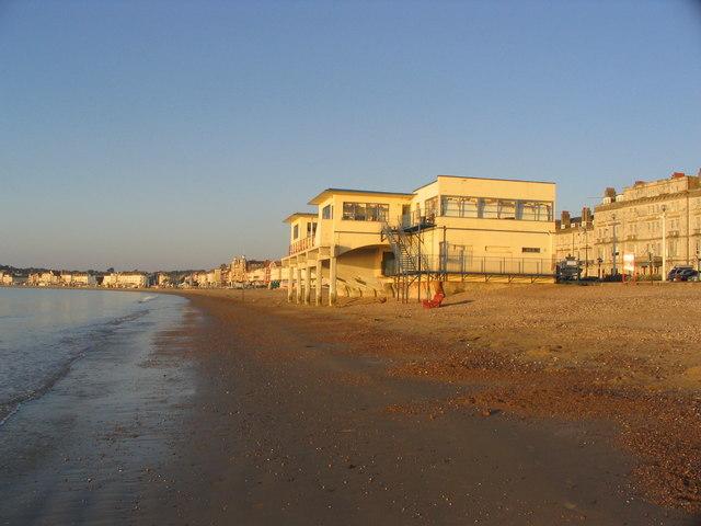 Pier Bandstand, Weymouth beach