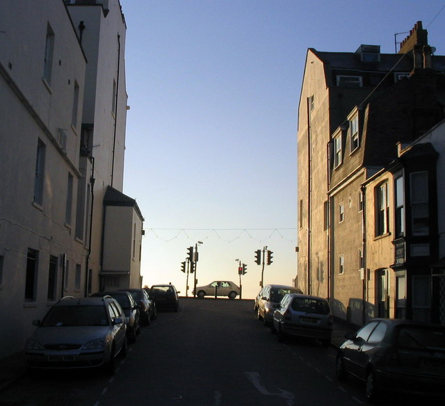 Back street off Weymouth seafront